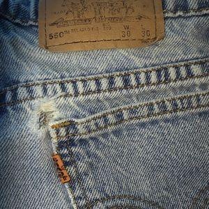 Vintg Levi Strauss 550 rlxd student fit orange tab